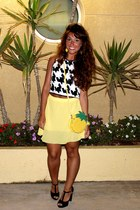 yellow asos bag - light yellow Ebay skirt - black asos top