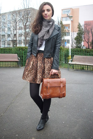 brown mini leopard PERSUNMALL skirt - ruby red burgundy PERSUNMALL coat