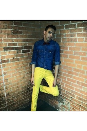 yellow pants - yellow H&M pants