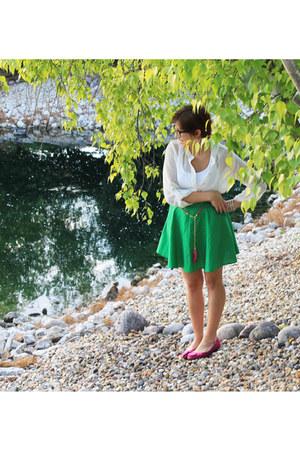 Von Maur skirt - TJ Maxx blouse - flats
