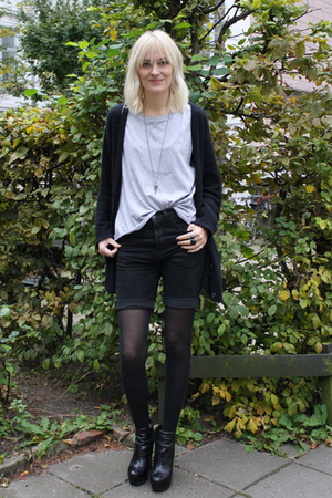weekday shorts - acne sweater - Camilla Skovgaard boots