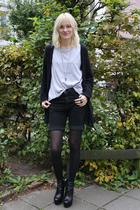 weekday shorts - acne sweater - Camilla Skovgaard boots