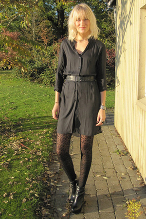 acne dress - Camilla Skovgaard boots