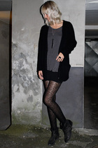 acne blouse - Sowat necklace - H&M tights - Topshop boots