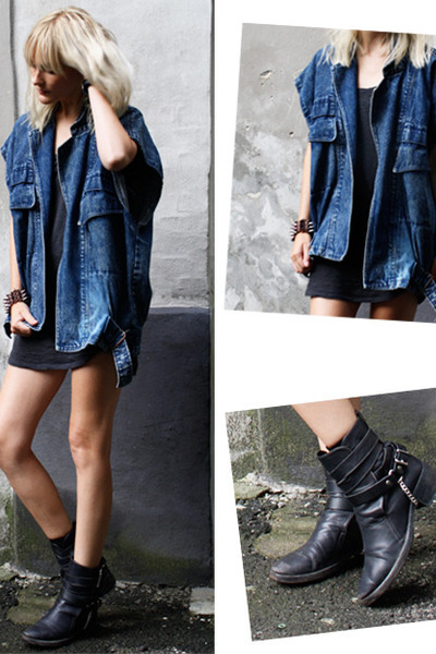 vintage jacket - Haider Ackermann boots