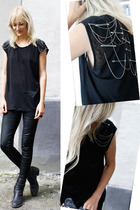 surface to air leggings - DIY t-shirt - Haider Ackermann boots