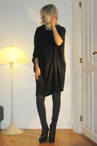 Diana Brinks dress - Zara leggings - Camilla Skovgaard boots