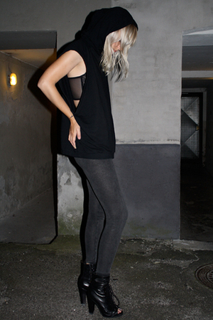 Givenchy sweater - H&M leggings - Topshop boots