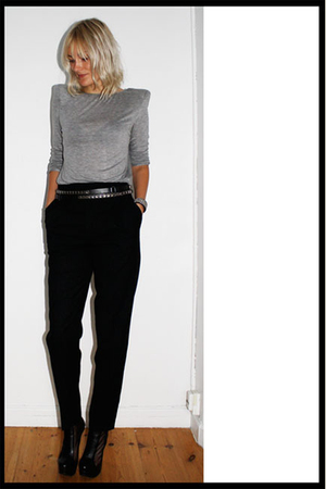 Zara blouse - Zara pants - Christopher Kane for Topshop boots