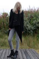 Rick Owens sweater - Zara jeans - Haider Ackermann boots