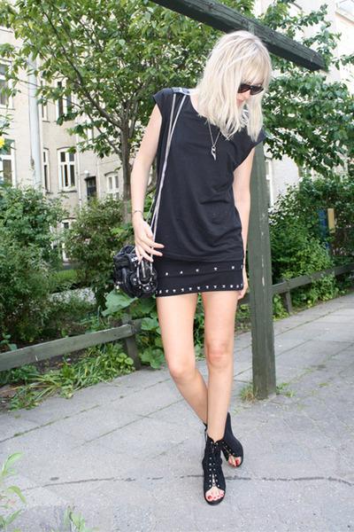 COS t-shirt - DIY skirt - Alexander Wang accessories - lgr sunglasses - acne sho