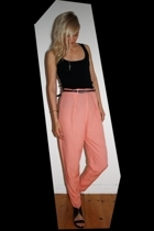 Veronica B Vallenes pants - Topshop top - Zara belt - Givenchy shoes - Ebay neck