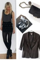 Topshop top - homemade skirt - Aldo boots - Stella McCartney accessories - Marc