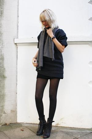 COS blouse - Topshop boots