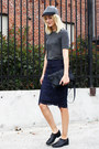 Won-hundred-shoes-asos-hat-yvonne-kon-bag-h-m-top-zara-skirt