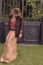 dark brown personal colection hat - dark brown Zara jacket