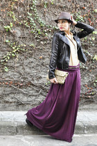 magenta Dollhouse skirt - black Via Uno boots - dark brown Mizu hat
