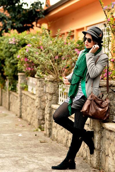 black Bianti boots - dark gray Zara Man hat