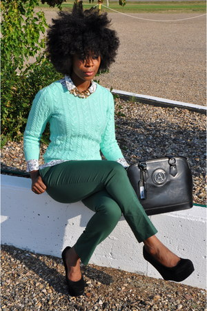 H&M sweater - Auslini bag - H&M pants - Steve Madden wedges