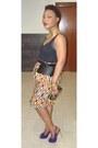 Black-peplum-asos-belt-yellow-cjaj09-skirt