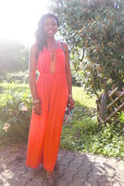 carrot orange Nasty Gal dress