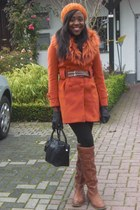 brown over the knee s oliver boots - burnt orange Only coat