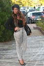 Black-blanco-jacket-silver-h-m-pants