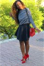 Navy-zara-skirt-navy-bershka-sweater-red-zara-heels