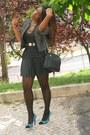 Teal-primark-shoes-black-primark-jacket-black-stradivarius-skirt