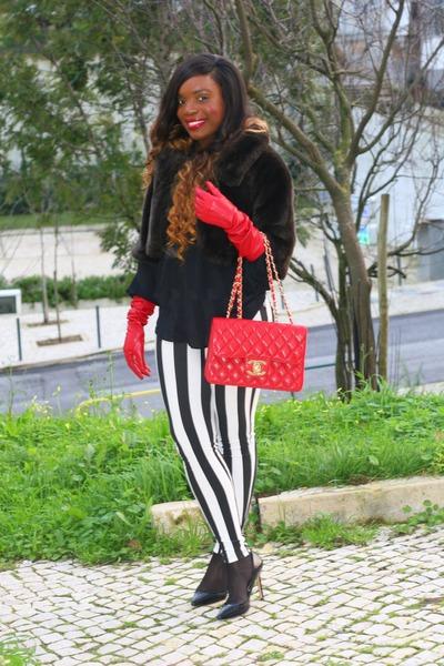 black Zara heels - black Zara blouse