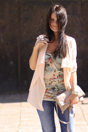 beige Dorothy Perkins cardigan - Dorothy Perkins top - asos jeans - beige asos b