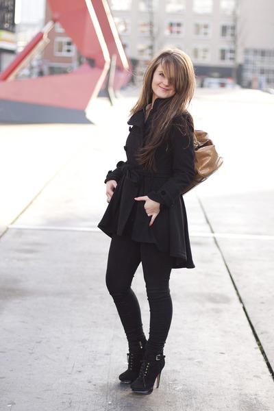 asos coat - Max Mara bag - Zara blouse - sam edelman heels - Bershka pants