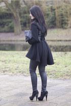 Topshop boots - asos coat - asos bag - Topshop pants