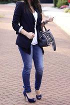 Zara blazer - Dorothy Perkins cardigan - asos top - asos jeans - Zara shoes - Za