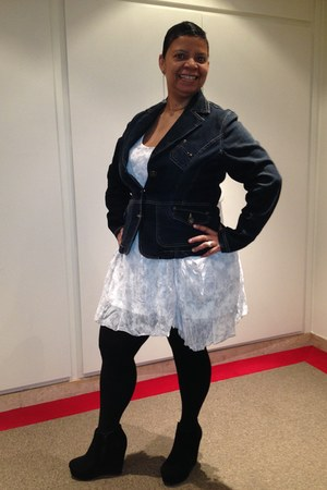 platform anastasia boots - Cache-cache dress - jean MS Mode blazer