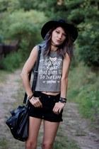 black Primark shorts - Primark top