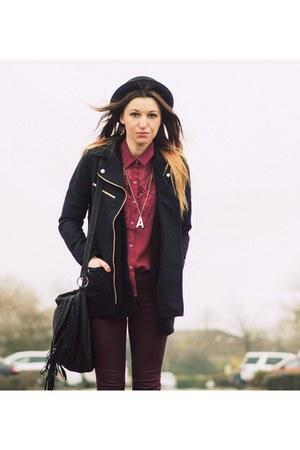 H&M coat - nowIStyle pants - Sheinsidecom blouse