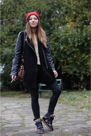 coat - sneakers