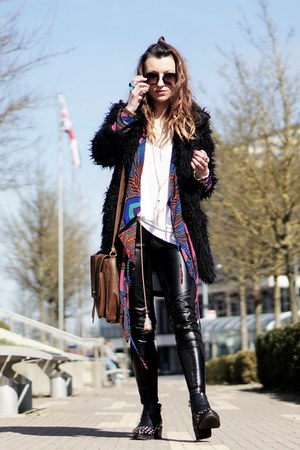 black style moi coat - kimono Oasapcom cardigan