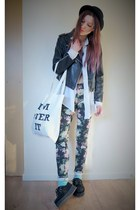 Sheinsidecom jacket - H&M bag - pants