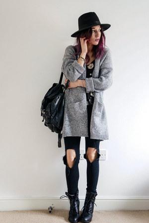 heather gray cardigan