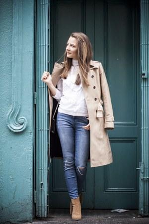 beige suede boots boots - tan trench coat Zara coat
