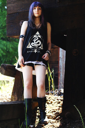 Urban Outfitters top - DrMartens boots - Plastic Viscera skirt