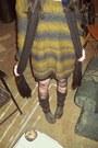 Biker-boots-doc-martens-boots-sweater-american-apparel-skirt
