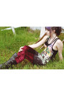 Drmartens-boots-drop-dead-clothing-dress-velvet-romwe-leggings