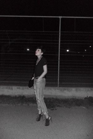 Bershka jeans - H M blouse - Migato heels