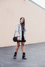 Black-patnet-ankle-forever-21-boots-heather-gray-boyfriend-forever-21-blazer