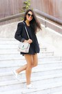 Navy-zara-jacket-black-zara-top-silver-forever-21-loafers