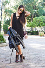 Black-lace-up-forever-21-dress-black-faux-leather-zara-jacket