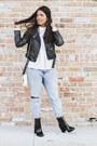 Black-patent-leather-forever-21-boots-light-blue-boyfriend-zara-jeans